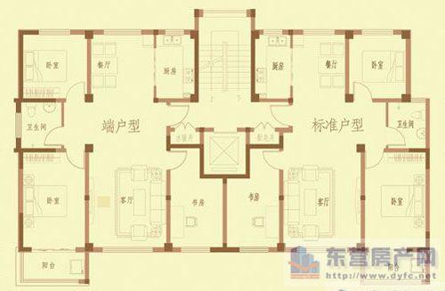 雅居乐110小高层平方户型样板间图
